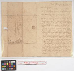 Primary view of object titled '[Col. Nicholas Copeland letter to Martin Bridgman, April 25, 1835]'.
