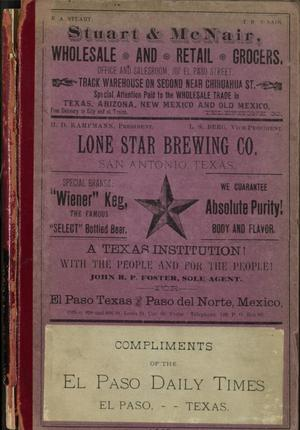 Directory of the City of El Paso 1888