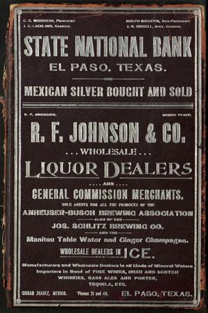 Evan's and Worley's Directory of the City of El Paso, Texas 1896 - '97