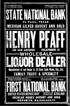 Primary view of object titled 'El Paso Directory for 1903'.