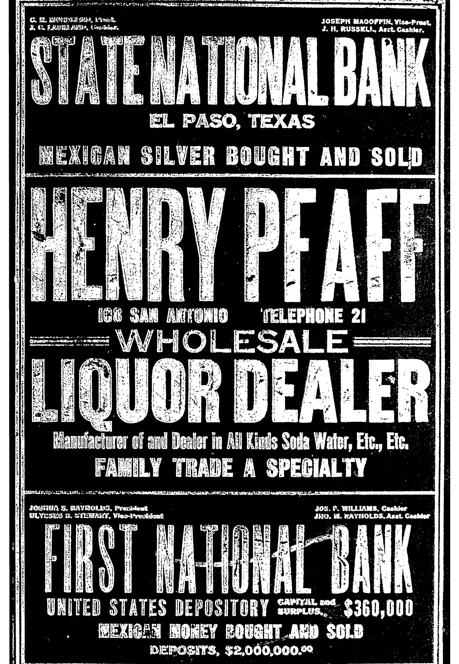 John F. Worley & Co.'s El Paso Directory for 1906                                                                                                      Front Cover