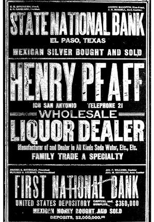 Primary view of object titled 'John F. Worley & Co.'s El Paso Directory for 1906'.
