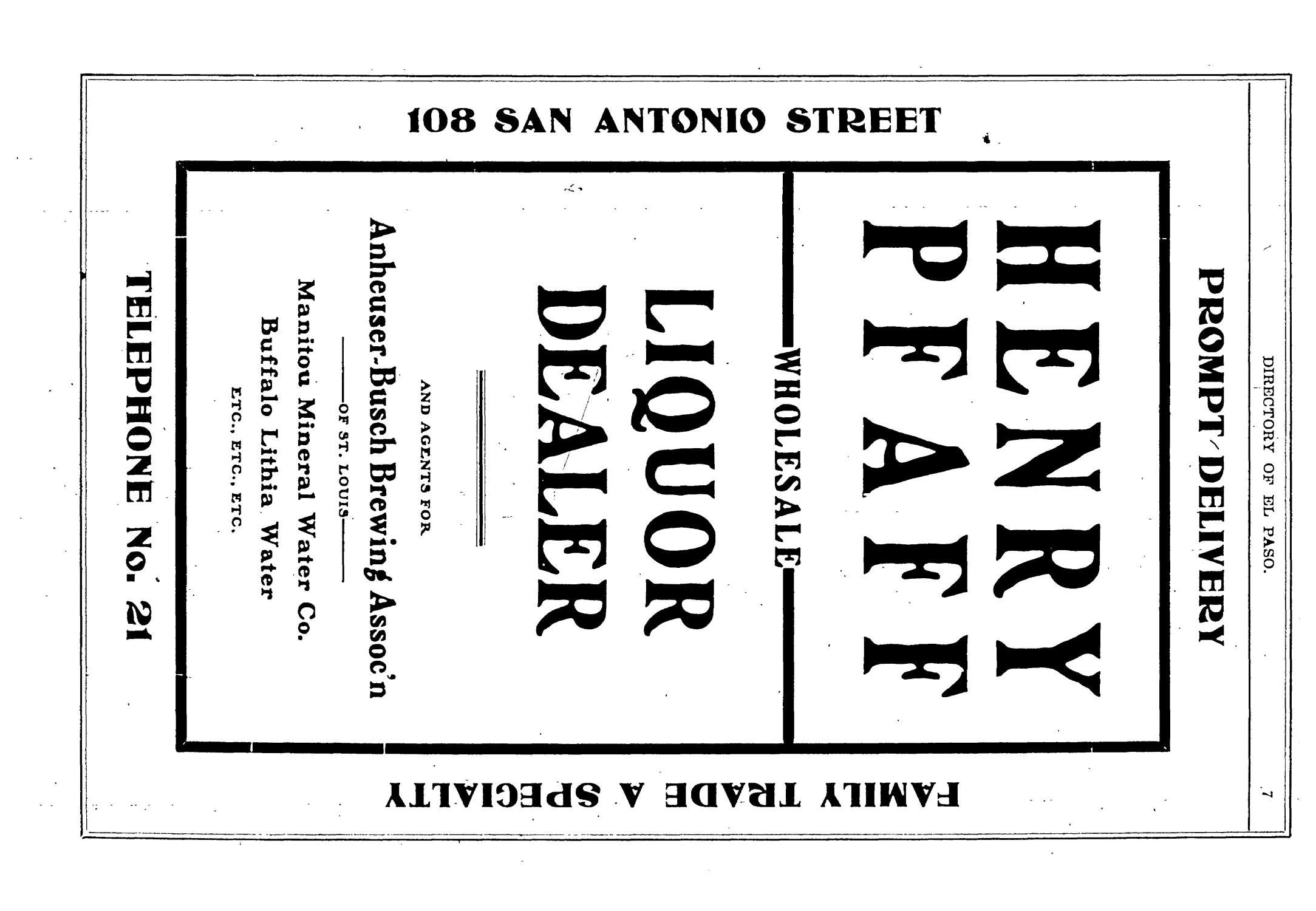 John F. Worley & Co.'s El Paso Directory for 1906                                                                                                      7