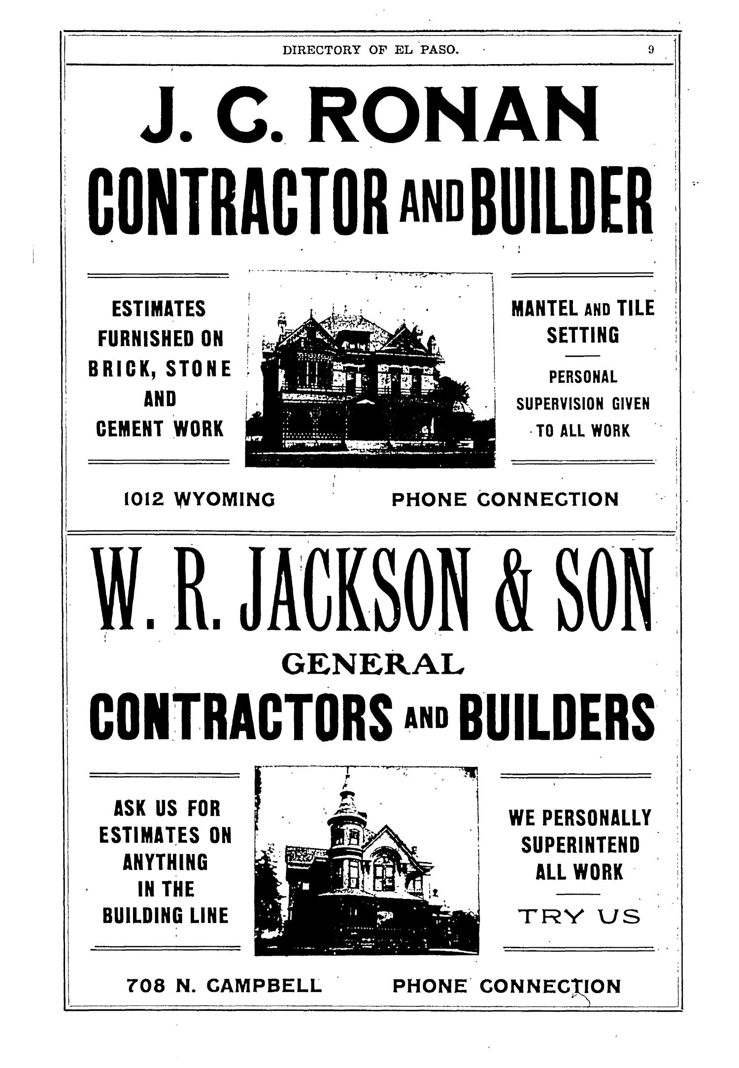 John F. Worley & Co.'s El Paso Directory for 1906                                                                                                      9
