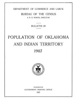 Primary view of object titled 'Population of Oklahoma and Indian Territory, 1907'.