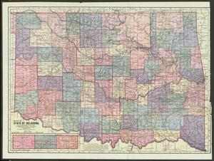 Primary view of object titled 'Map of the State of Oklahoma'.