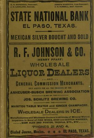 Worley's Directory of City of El Paso, Texas 1898-1899
