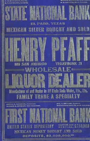 Primary view of object titled 'John F. Worley & Co.'s El Paso Directory for 1904'.