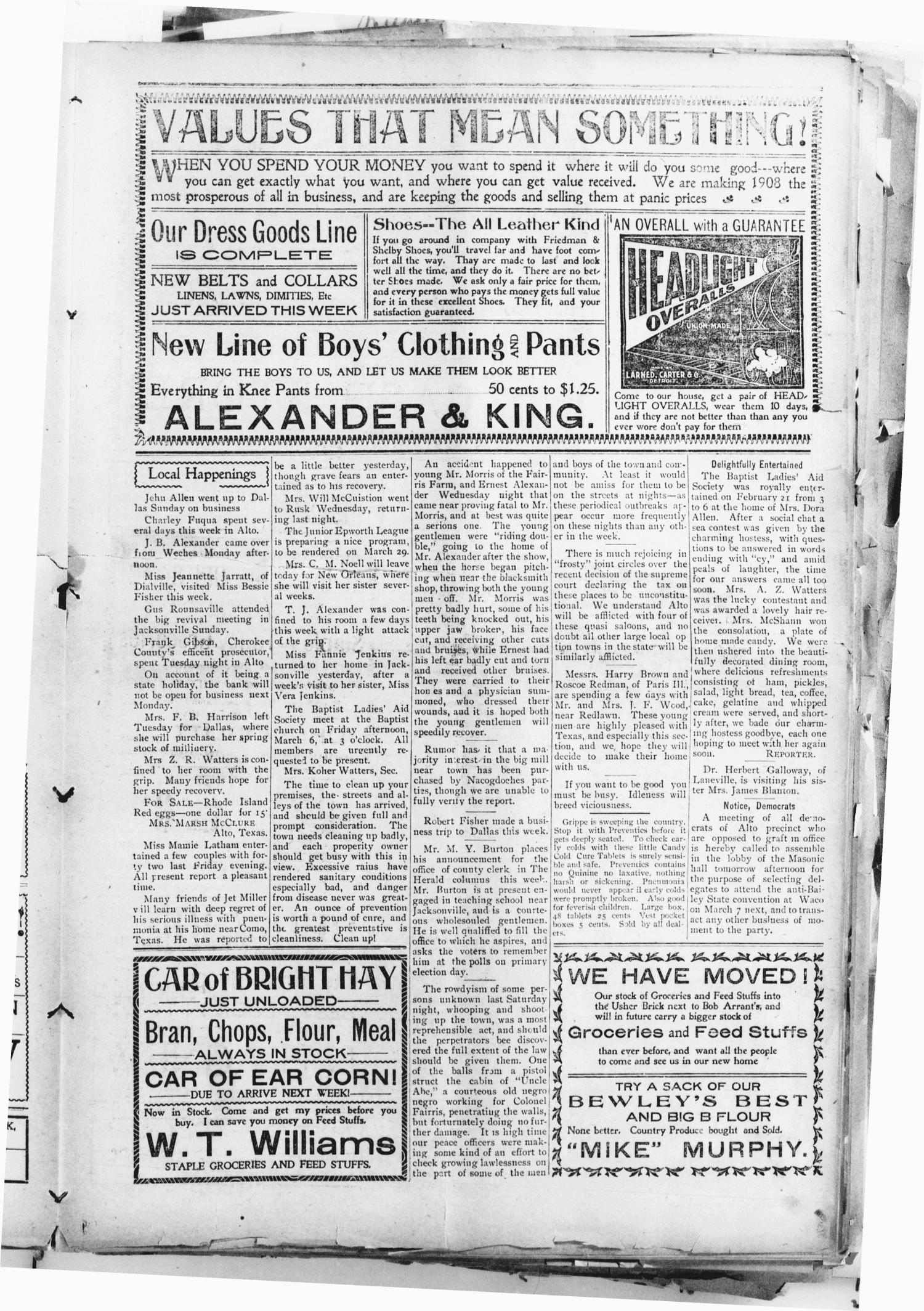 The Alto Herald (Alto, Tex.), Vol. 8, No. 12, Ed. 1 Friday, February 28, 1908                                                                                                      [Sequence #]: 5 of 8