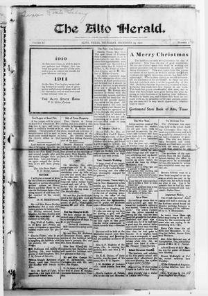 The Alto Herald (Alto, Tex.), Vol. 11, No. 4, Ed. 1 Thursday, December 29, 1910