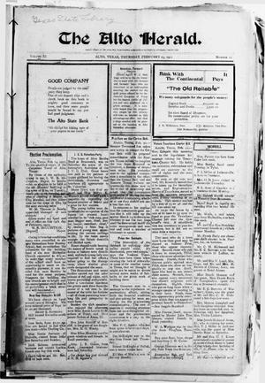 The Alto Herald (Alto, Tex.), Vol. 11, No. 12, Ed. 1 Thursday, February 23, 1911