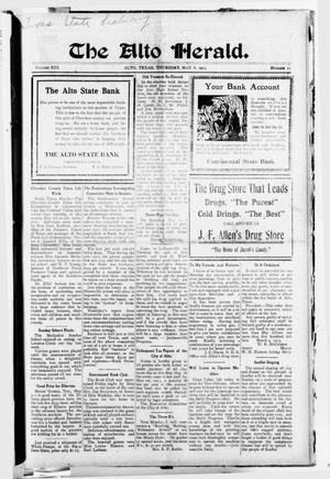 The Alto Herald (Alto, Tex.), Vol. 13, No. 21, Ed. 1 Thursday, May 8, 1913