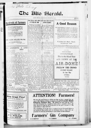 Primary view of The Alto Herald (Alto, Tex.), Vol. 14, No. 35, Ed. 1 Thursday, August 20, 1914