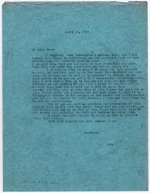 [Letter from Dr. Edwin D. Moten to Don Moten, April 24, 1947]
