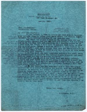 [Two Letters from Dr. Edwin D. Moten to Ike S. Moten and Rev. L. E. Goodlow, April 11, 1947]