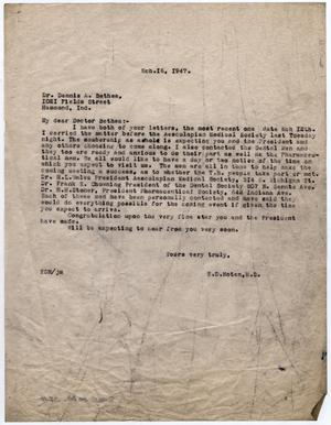 [Letter from Dr. Edwin D. Moten to Dr. Dennis A. Bethea, March 16, 1947]