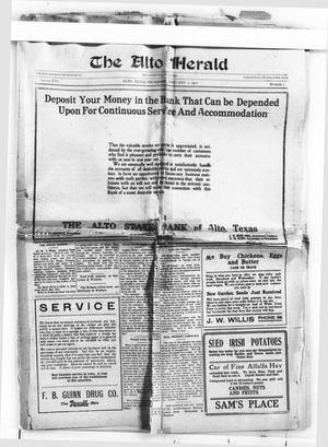 The Alto Herald (Alto, Tex.), Vol. 17, No. 7, Ed. 1 Thursday, February 1, 1917