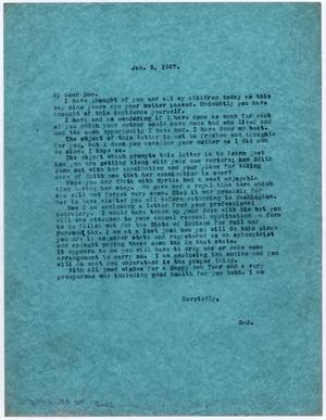 Primary view of object titled '[Letter from Dr. Edwin D. Moten to Don Moten, January 5, 1947]'.