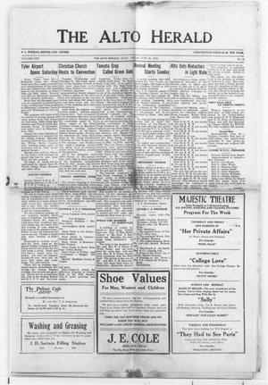 The Alto Herald (Alto, Tex.), Vol. 30, No. 9, Ed. 1 Thursday, June 26, 1930