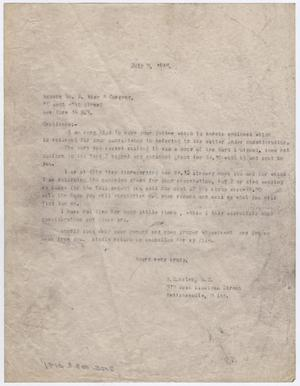 Primary view of object titled '[Letter from Dr. Moten to William H. Wise & Co., July 12, 1946]'.
