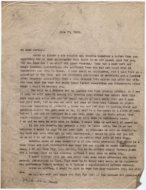Primary view of object titled '[Letter from Dr. Edwin D. Moten to Myrtle Moten Dabney, June 18, 1946]'.