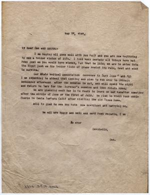 Primary view of object titled '[Letter from Dr. Edwin D. Moten to Don and Edith Moten, May 26, 1946]'.