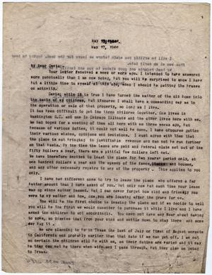 Primary view of object titled '[Letter from Dr. Edwin D. Moten to Walter Davis, May 17, 1946]'.