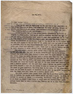 Primary view of object titled '[Letter from Dr. Edwin D. Moten to Pierce I. Moten, May 11, 1946]'.
