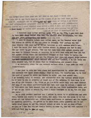 Primary view of object titled '[Letter from Dr. Edwin D. Moten to Don Moten, April 30, 1946]'.