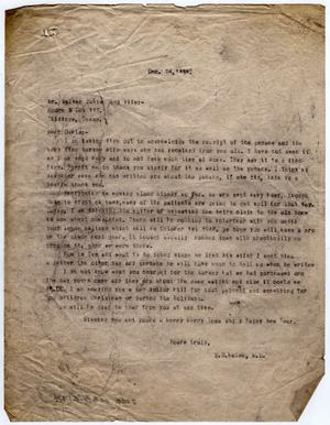 Primary view of object titled '[Letter from Dr. Edwin D. Moten to Walter Davis, December 24, 1945]'.