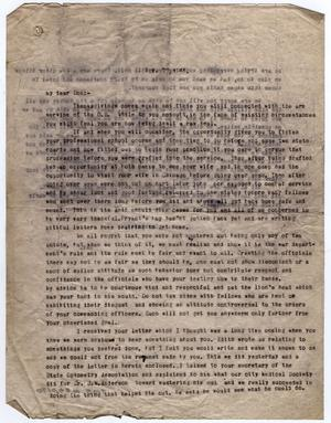 Primary view of object titled '[Letter from Dr. Edwin D. Moten to Don Moten, November 22, 1945]'.