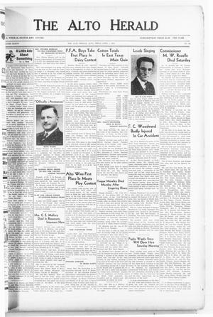 The Alto Herald (Alto, Tex.), Vol. 37, No. 48, Ed. 1 Friday, April 1, 1938