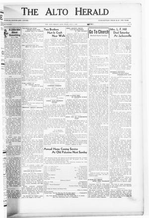 The Alto Herald (Alto, Tex.), Vol. 38, No. 9, Ed. 1 Friday, July 1, 1938