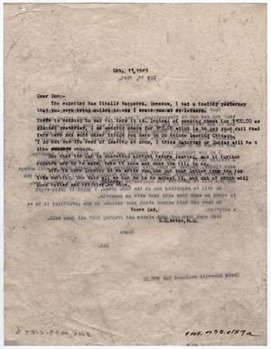 Primary view of object titled '[Letter from Dr. Edwin D. Moten to Don Moten, October 11, 1943]'.