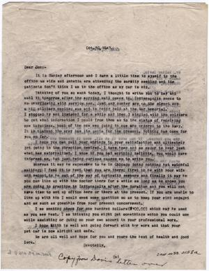 Primary view of object titled '[Two Letters from Dr. Edwin D. Moten to Don Moten and Walter Davis, October 10, 1943]'.