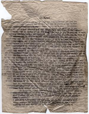 Primary view of object titled '[Letter from Dr. Edwin D. Moten to Josephine Bramlette, May 21, 1942]'.
