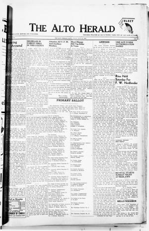 Primary view of object titled 'The Alto Herald (Alto, Tex.), Vol. 48, No. 7, Ed. 1 Thursday, July 22, 1948'.