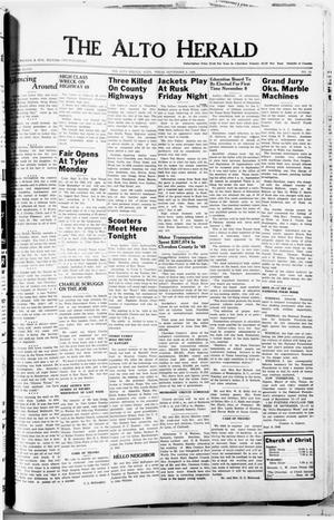 Primary view of The Alto Herald (Alto, Tex.), Vol. 49, No. 14, Ed. 1 Thursday, September 8, 1949