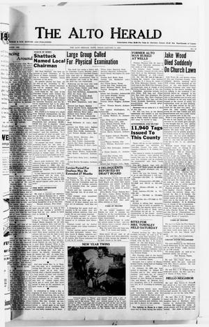 Primary view of object titled 'The Alto Herald (Alto, Tex.), No. 30, Ed. 1 Thursday, January 11, 1951'.