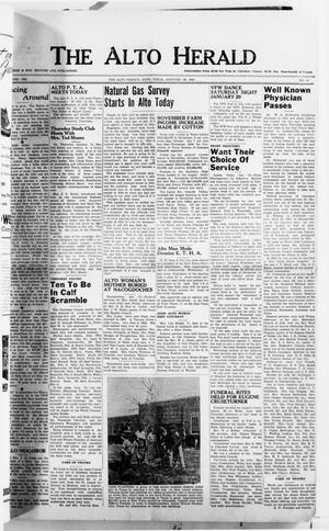 Primary view of object titled 'The Alto Herald (Alto, Tex.), No. 31, Ed. 1 Thursday, January 18, 1951'.