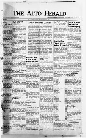 Primary view of object titled 'The Alto Herald (Alto, Tex.), No. 32, Ed. 1 Thursday, January 25, 1951'.