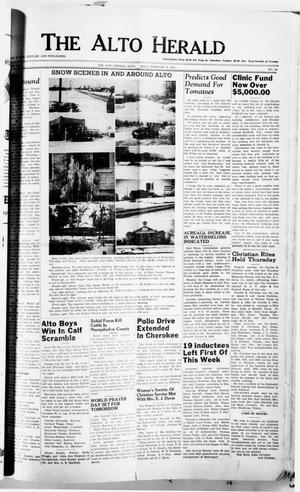 Primary view of object titled 'The Alto Herald (Alto, Tex.), No. 34, Ed. 1 Thursday, February 8, 1951'.