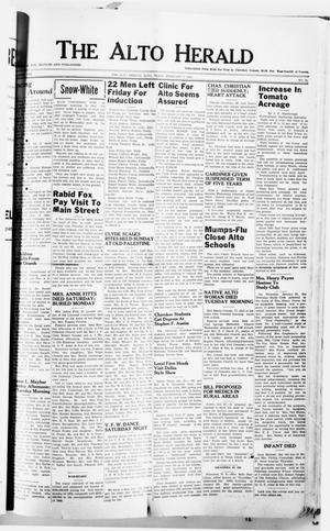 Primary view of object titled 'The Alto Herald (Alto, Tex.), No. 33, Ed. 1 Thursday, February 1, 1951'.