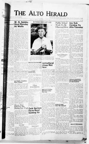 Primary view of object titled 'The Alto Herald (Alto, Tex.), No. 37, Ed. 1 Thursday, March 1, 1951'.