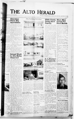 Primary view of object titled 'The Alto Herald (Alto, Tex.), No. 38, Ed. 1 Thursday, March 8, 1951'.