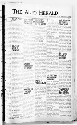 Primary view of object titled 'The Alto Herald (Alto, Tex.), No. 3, Ed. 1 Thursday, July 5, 1951'.