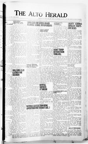 Primary view of object titled 'The Alto Herald (Alto, Tex.), No. 5, Ed. 1 Thursday, July 19, 1951'.