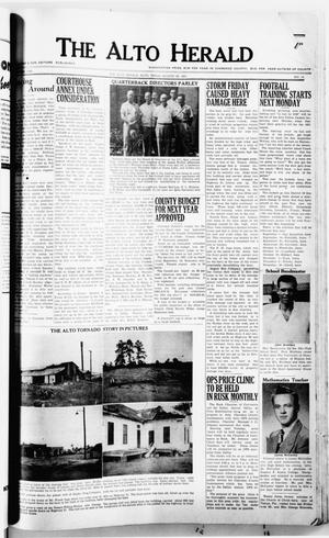 Primary view of object titled 'The Alto Herald (Alto, Tex.), No. 10, Ed. 1 Thursday, August 23, 1951'.
