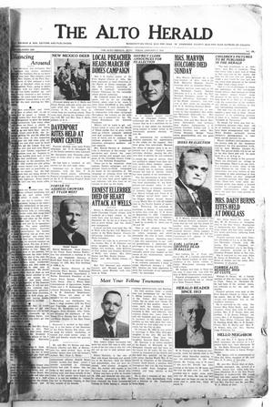 The Alto Herald (Alto, Tex.), No. 29, Ed. 1 Thursday, January 3, 1952