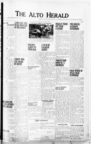 Primary view of object titled 'The Alto Herald (Alto, Tex.), No. 2, Ed. 1 Thursday, June 26, 1952'.